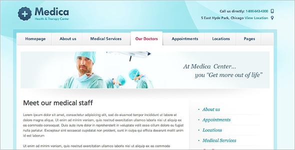 Medical Care Center WordPress Template
