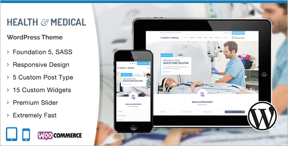 Medical Health care W ordPress Template