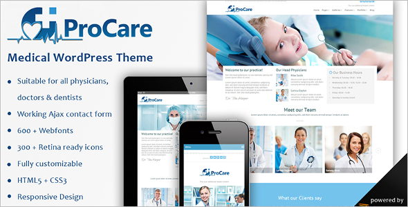 Medical Procare WordPress Template
