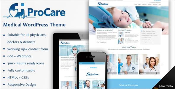 Medical Procare WordPress Template