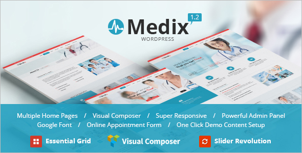 Medical Retail WordPress Website Template