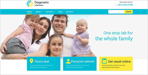 Medical diagnostic WordPress Template