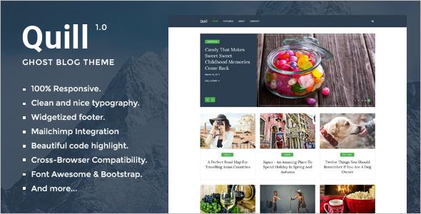 Minimal Blogger Website Template