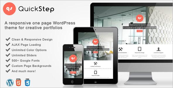 Minimal One Page Parallax WordPress Theme
