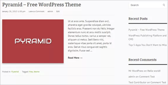 Minimal Open Source WordPress Template