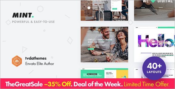 Minimal Single Page WordPress Template