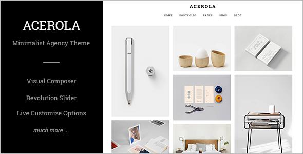 Minimalist Agency WordPress Template