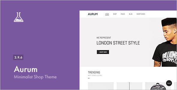 Minimalist Shopping WordPress Template