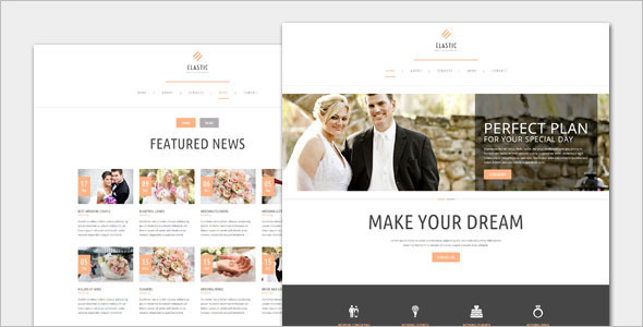 Minimalist Wedding WordPress Template