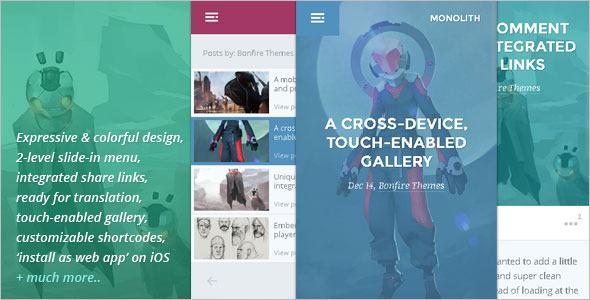 Mobile Blogger WordPress Template