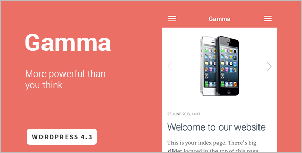 Mobile Friendly HTML5 WordPress Theme