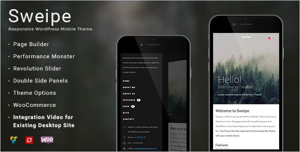 Mobile Page WordPress Template