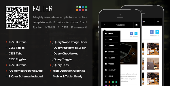 Mobile Retina HTML5 & CSS3 with WebApp