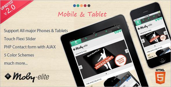 Mobile Slider Website Template