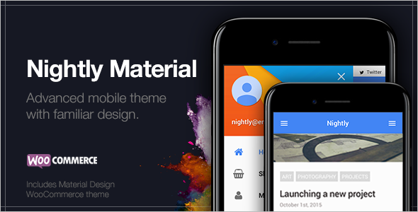 Mobile material WordPress Template
