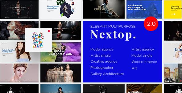 Model Artist Talent Agency WordPress Template