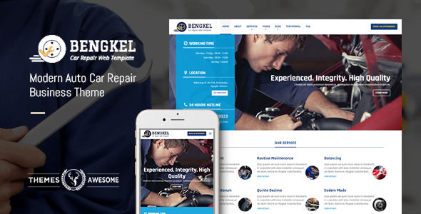 Modern Auto Car Repair Business Theme