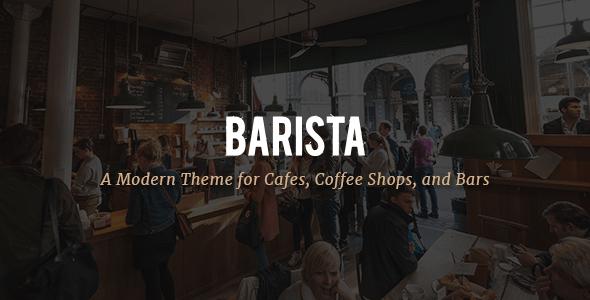 Modern Cafe WordPress Template