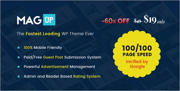 Modern Styled Magazine WordPress Theme