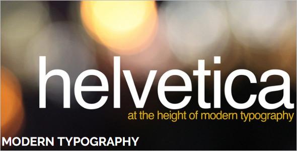 Modern Typography WordPress Template