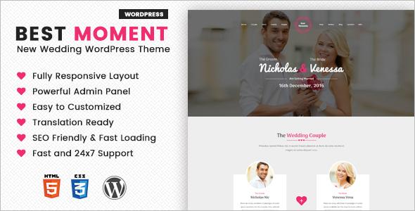 Modern Wedding WordPress Template