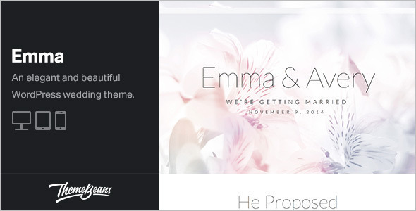 Modest Wedding WordPress Template