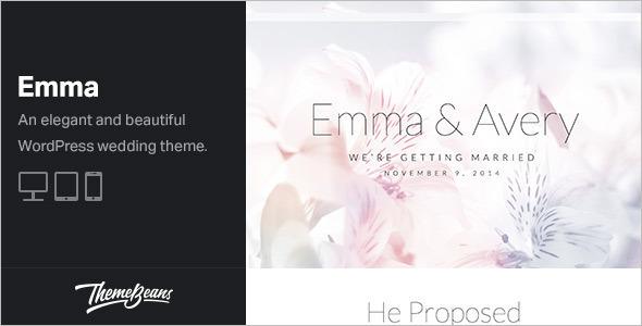 Modest Wedding WordPress Template
