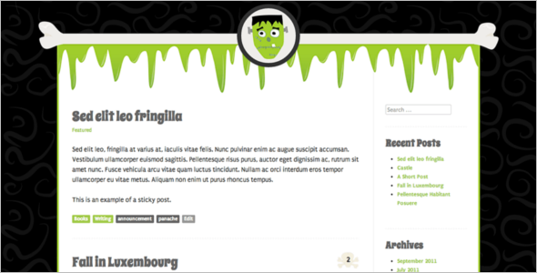 Monster Open Source WordPress Template