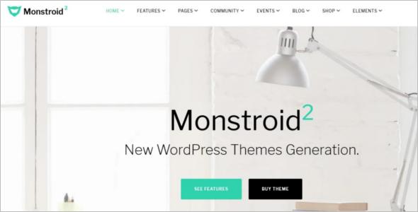 Monstroid Parallax WordPress Template