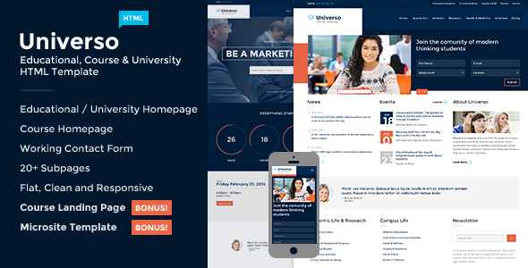 Most Popular University Website Templates