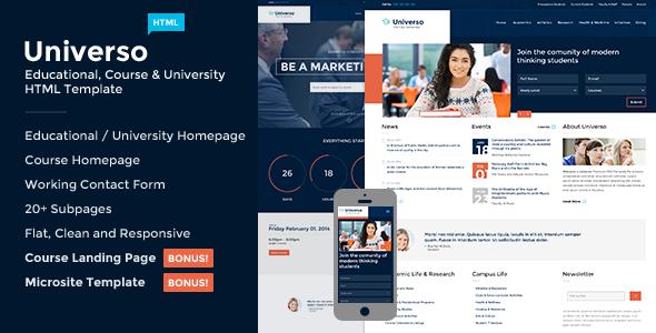 Most Popular University Website Templates