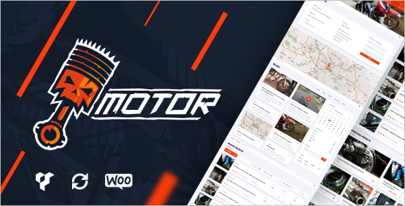 Motor Cycle Accessories WordPress Template