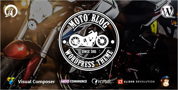 Motor Cycle Blog WordPress Template