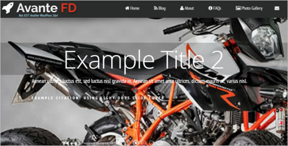 Motor Cycle Example WordPress Template