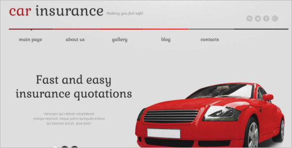 Motor Cycle Insurance WordPress Template