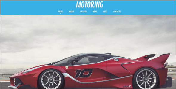 Motor Sport WordPress Template