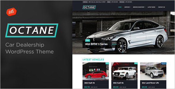 Motor Vehicle WordPress Template