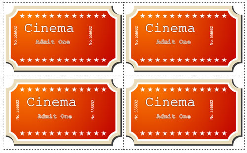 Movie Ticket Template for Word