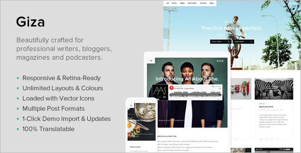 Multi-Concept Writer WordPress Template
