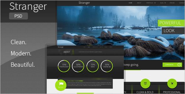 Multi-purpose PSD WordPress Template