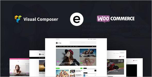 Multiconcept Blog WordPress Template