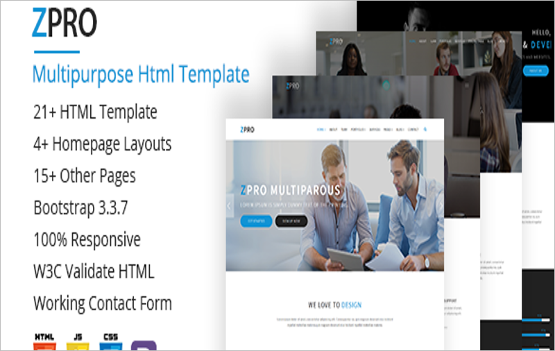 Multipurpose Bootstrap Theme