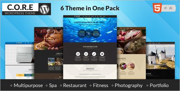 Multipurpose One Page WordPress Template