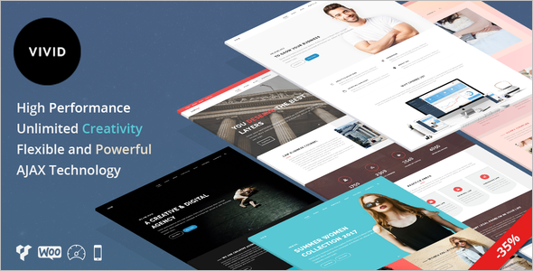 Multipurpose Single Page WordPress template