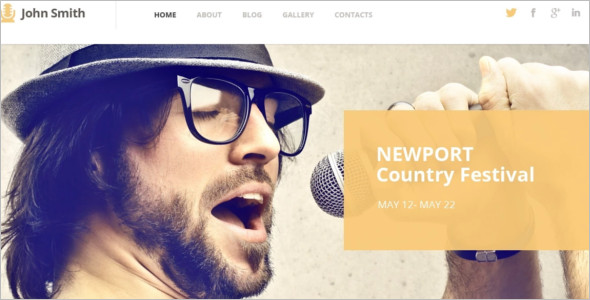 Music Artist WordPress Template