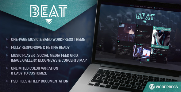 Music & Band WordPress Template