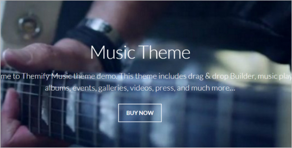 Music Band WordPress Template