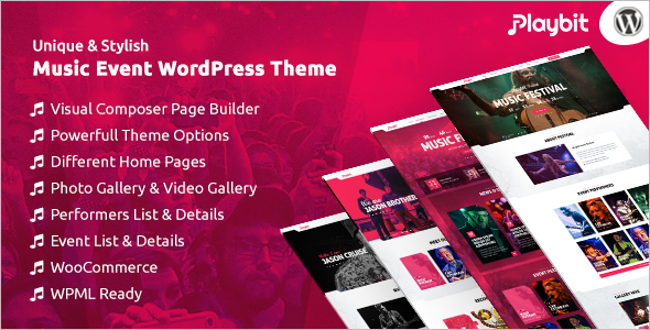 Music & Bands WordPress Template