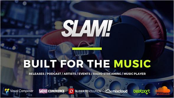Music Business WordPress Template