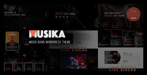 Music Festival WordPress Template
